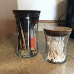 Recycle, Re-use Wood Wick Candle Jars